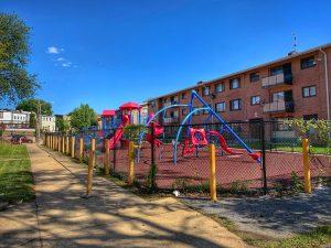 Public housing community playground