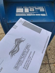 Mail-in ballot and US Post box