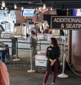 Voting super center at Nationals Park