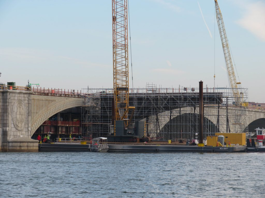 The Kiewit Infrastructure Company won the $237 million contracted from the Interior Department to refurbish the aging bridge. Kiewit completed the project ahead of schedule. (Courtesy of Kiewit)