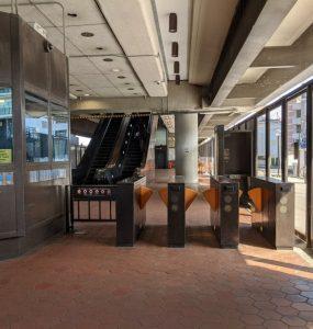 Metro station in Washington D.C.