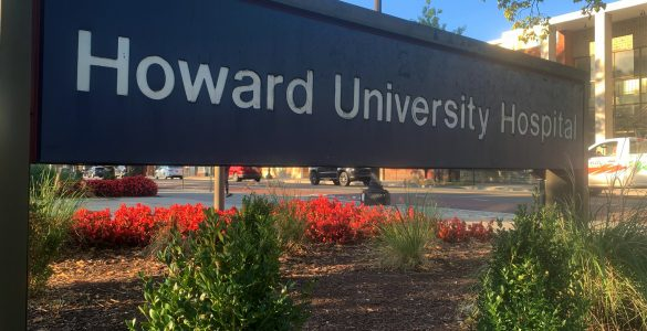 picture of Howard University Hospital sign