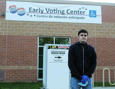 Alex Garcia outside of Midcounty Community Recreation Center