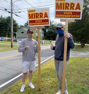 John Olds poses with Massachusetts state representative Lenny Mirra